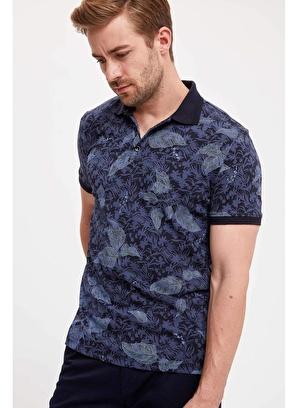 DeFacto Çiçekli Slim Fit Polo T-shirt